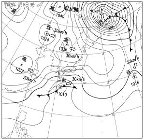 14021409地上天気図