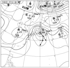 14021509地上天気図