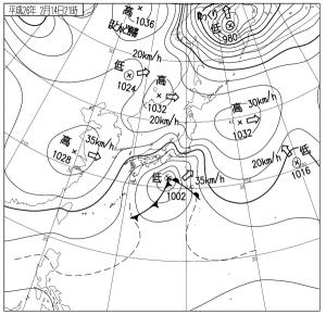 14021421地上天気図