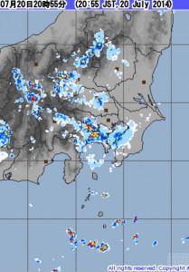 雷雨レーダー