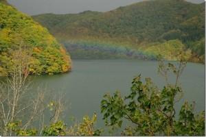 藤原湖と奈良俣ダム